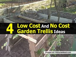 4 low cost and no cost garden trellis ideas
