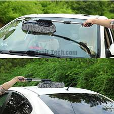 Interior Windshield Cleaning Tool Telescopic Car And Home Cleaning Duster Brush With Microfiber