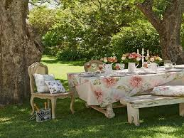 country style dining table and chairs summer shabby chic garden