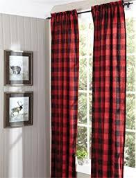 amazon com achim home furnishings buffalo check curtain panel 42