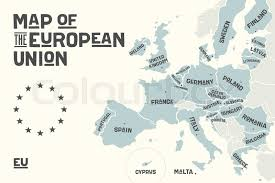 map of europe with country names and capitals poster map of the european union with country names and capitals