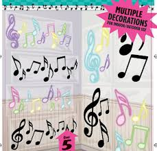 theme themed decorations musical notes