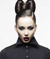 bow hair bow hair front bun hairdo trendy mods