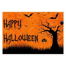 grunge tree bats halloween party banner backdrop decoration