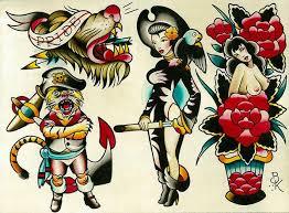 flash 6 by brian kelly pirate tattoo designs canvas art print