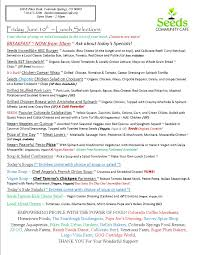 Pikes Peak Urban Gardens - menu archives page 18 of 18 seeds community cafe