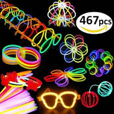 blacklight party supplies budi 200 glow sticks 467pcs glow party favors for kids adults 200