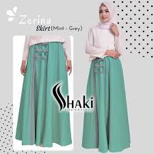 rok muslimah baju muslim bawahan rok zerina skirt by shaki simply dan oke