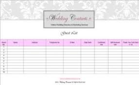 Wedding Guest List Excel Template 7 Free Guest List Templates Excel Pdf Formats