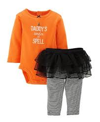 Toddler Boy Halloween T Shirts Carter U0027s 2 Piece Halloween Tutu Set Baby U2013 Orange 9 Months