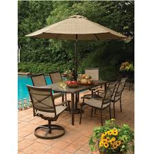 Sears Patio Umbrella by Country Living As J 252 3rset7 Ashmore 7 Piece Dining Set