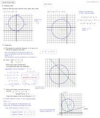 Transformations Geometry Worksheet Math Plane Conics I Circles U0026 Ellipses