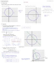 Graphing Speed Worksheet Math Plane Conics I Circles U0026 Ellipses