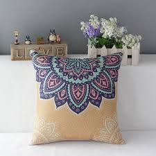 40 of the best throw pillows to buy in 2017 3 bohemian flower boho pattern pillows for indoors