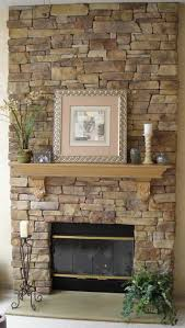good stone wall fireplace on interior with lcd custom flush