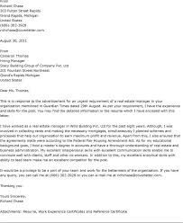 estate manager cover letter 21 sample marketing in example with