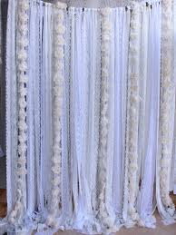 Baby Nursery Curtains by White Lace Flowers Backdrop Props Wedding Ceremony Stage Birthday