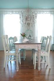 distressed dining room sets shabby chic table and mismatched chairs makeover shabby chic