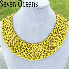 bead necklace style images 48 seven oceans 2017 new yellow beaded necklace bohemia style jpg