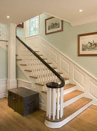 Banister Wall Staircase Wall Color Ideas Staircase Traditional With Dark Stained