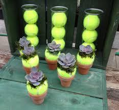 tennis ball succulents design by heritagesucculents com