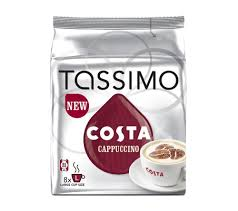 cappuccino buy tassimo costa cappuccino t discs pack of 8 free delivery