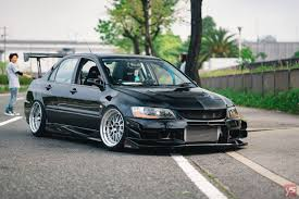 jdm mitsubishi evo car mitsubishi lancer evo ix stance tuning lowered jdm road