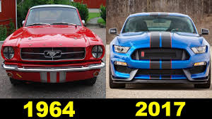 ford mustang 1964 evolution of the ford mustang 1964 2017