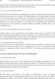 X Ray Tech Resume Sample by Surface And Physicochemical Characterization Of Phosphates