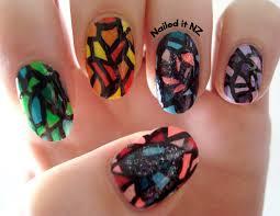 nail art for short nails 4 christmas tree nails mosaic nails
