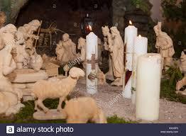 baptismal candles baptismal candles in a crib indoor stock photo royalty free