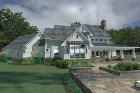 direct from the designers house plans rendering rear dfd 2044 magnolia farm house house plan