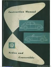 volkswagen beetle 1960 1 g owners manual