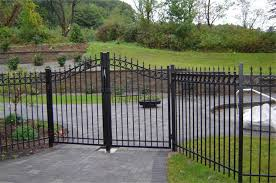 Backyard Fence Styles by Black Metal Fence Designs U2014 Home Ideas Collection Style And