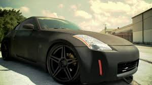 black nissan matte black nissan 350z on 20 u201d incurve wheels ic s5 deep concave