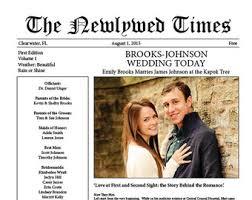 newspaper wedding programs newspaper wedding program etsy