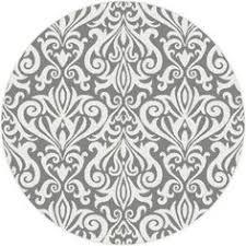 Grey Round Rug Round Damask Rug Rugs Ideas