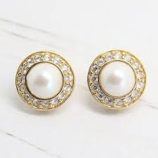 monet earrings signed monet vintage pearl clip on earrings queenie s