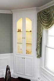 corner china cabinets dining room corner china cabinet built in simple with beautiful molding