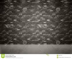 dark gray black brick wall and concrete floor stock illustration