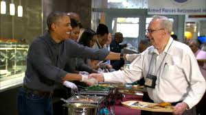 obama and family serve thanksgiving meal to vets