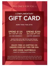20 gift card be mine complimentary s day 2018 gift card offer