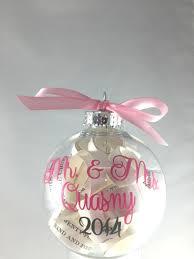 Personalized Ornaments Wedding Christmas Tree Ornament Engagement Gift Personalized Plastic