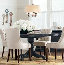 Best  Black Round Dining Table Ideas On Pinterest Dining - Black and white dining table with chairs