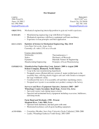 Mechanical Engineering Resume Examples by Download Automotive Mechanical Engineer Sample Resume
