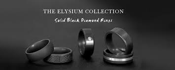 mens wedding bands that don t scratch elysium black diamond rings and wedding bands hardest ring in