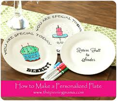 personalize plate diy how to make a personalized birthday plate www thepinningmama