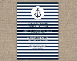 nautical wedding invitations stripes navy blue nautical wedding invitations iwi271 wedding