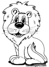 print out coloring pages animal a happy lion printable coloring