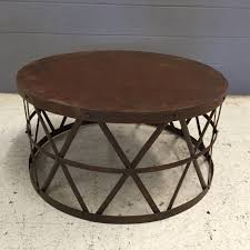 round metal coffee table frame med art home design posters